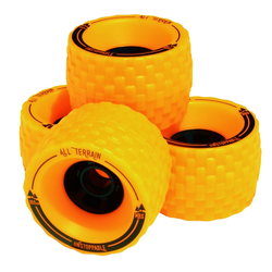 MBS All-Terrain Longboard Wheels Yellow