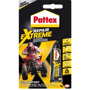 Pattex Repair Extreme, nicht-schrumpfender und flexibler Alleskleber, temperaturbeständiger Reparaturkleber, starker Kleber für innen und außen, 1x8g Tube, schwarz, Repair Gel - 8 g