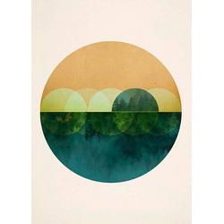 Komar Poster Mirrors, Abstrakt, Höhe: 50cm 50 cm x 70 cm