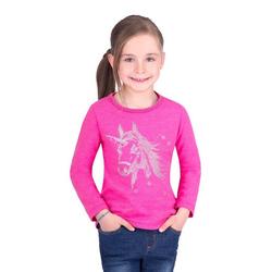 Trigema Sweater mit Einhorn lila 152