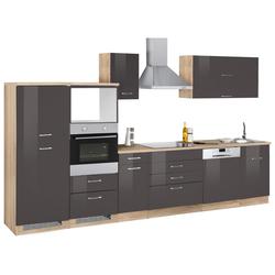Küchenzeile Graz, ohne E-Geräte, Breite 350 cm grau