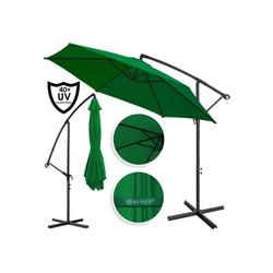 KESSER Ampelschirm, Sonnenschirm Alu 3,0m Ampelschirm mit Handkurbelmechanik Schirm Garten Ø300cm grün