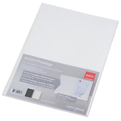 Elco Präsentationsmappe DIN A4 Weiß 270 g/m² Papier 2 Stück