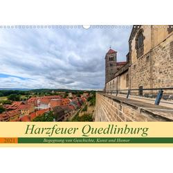 Harzfeuer Quedlinburg (Wandkalender 2021 DIN A3 quer)