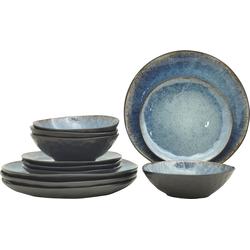 andas Geschirr-Set Arnhem (12-tlg.), Steinzeug blau Geschirr-Sets Geschirr, Porzellan Tischaccessoires Haushaltswaren