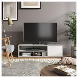 Vicco Lowboard TV-Board Fernsehschrank Gino beton weiß Fernsehtisch TV-Schrank