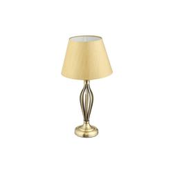 relaxdays Stehlampe Schirmlampe Antik goldfarben 27 cm x 27 cm x 53 cm