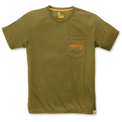 Carhartt Force Hengelsport grafische T-Shirt, groen, S