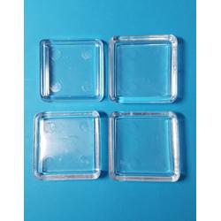 4er Set Möbeluntersetzer glasklar, quadratisch 40x40 mm