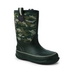 Isolierte Gummistiefel, Kids, Größe: 28 Junge, Grün, by Lands' End, Dunkel Moos Grün Camouflage - 28 - Dunkel Moos Grün Camouflage
