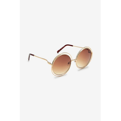 Next Sonnenbrille Runde Statement-Sonnenbrille mit Metallfassung