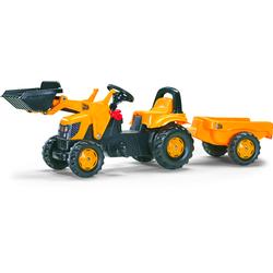 Rolly Toys Trettraktor mit Schaufellader und Anhänger rolly Kid JCB