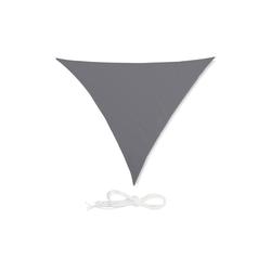 relaxdays Sonnensegel Sonnensegel Dreieck grau 415 cm x 0.5 cm x 500 cm