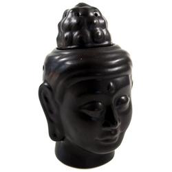 Guru-Shop Duftlampe Duftlampe in Buddhaform - Buddha 3 schwarz 15 cm