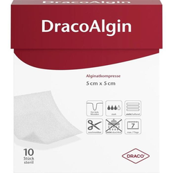 DracoAlgin Alginatkompresse 5x5 cm