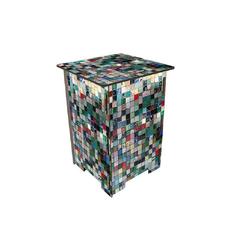 WERKHAUS® Hocker Werkhaus - Hocker Mosaiksteine, Photohocker Sitzmöbel Sitzhocker Stuhl