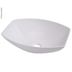 Design-Waschbecken Halboval weiß 400 x 300 mm H135mm