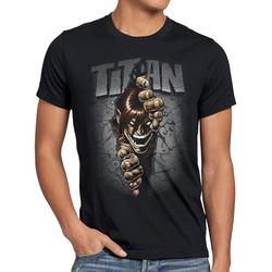 style3 Print-Shirt Herren T-Shirt Titan Mauerdurchbruch japan anime AoT Titan on Attack XL