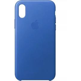 Apple iPhone X Leder Case hellblau