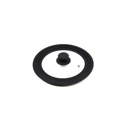Michelino Topfdeckel Silikon-Glasdeckel passend für Ø 16-18-20 cm, (1-tlg), Glasdeckel
