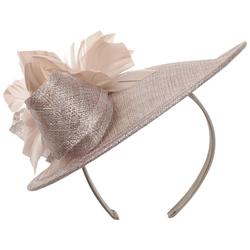 Lierys Silver Miranda Fascinator Kopfschmuck Hochzeitshut Anlasshut Damenhut