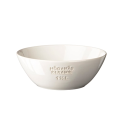 Höganäs Keramik Schüssel 1,5 L Weiß Blank