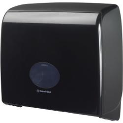 Kimberly-Clark AQUARIUS Toilettenpapier-Spender, schwarz, Spender für Jumbo Midi Toilettenpapier, Maße: 38,2 x 44,6 x 12,9 cm