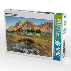 Geisleralm in Südtirol Lege-Größe 64 x 48 cm Foto-Puzzle Bild von Michael Valjak Puzzle