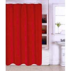 MSV Duschvorhang Rot Breite 180 cm, Breite 180 cm