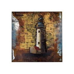 MÖBEL IDEAL Metallbild Leuchtturm, Leuchtturm