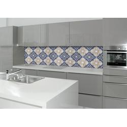Küchenrückwand - Spritzschutz profix, Luis Fliese, 220x60 cm blau