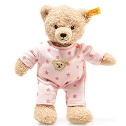 Steiff Teddy and Me Teddybär Mädchen Baby mit Schlafanzug, 25cm