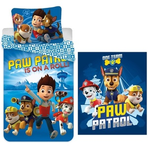 Babybettwäsche PAW Patrol - Baby-Bettwäsche-Set, 100x135 und Fleecedecke, 100x140, PAW PATROL, 100% Baumwolle