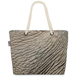 VOID Strandtasche (1-tlg), Elefant Elefantenhaut-Druck Beach Bag Tier-Muster Elefanten-Herde Zoo Savanne