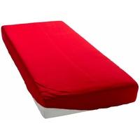 my home my home, Spannbettlaken Microfaser, schnell trocknend rot 200 cm x 200 cm