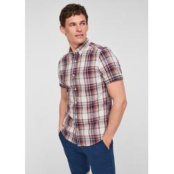 s.Oliver Kurzarmhemd Slim Fit: Hemd aus Hanfmix XL