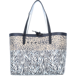 Replay Shopper Tasche 34,5 cm black animal