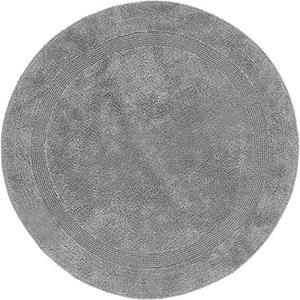 Erwin Müller Badematte, Badteppich grau Größe rund 90 cm Ø - Kochfest, für Fußbodenheizung geeignet, 100% Baumwolle (weitere Farben, Größen)