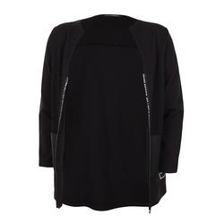 Jacke mit Zierstreifen Doris Streich schwarz