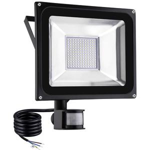 LED Strahler Sararoom 100W LED Fluter scheinwerfer mit Bewegungsmelder Außen 8000LM 2800K-3200K Warmweiß IP66 Wasserdicht LED Aussenstrahler Flutlicht Aussenbeleuchtung für Hof Garten Garage