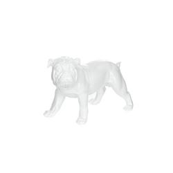 Skulptur Bulldog 21-J Weiß