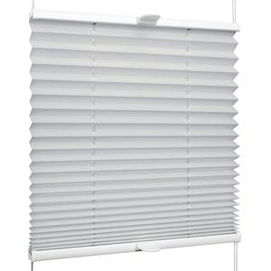 SchattenFreude Plissee nach Maß für Fenster & Tür | Zum Anschrauben in der Glasleiste | Silber, Breite: 1301-1400mm x Höhe: 1001-1500mm
