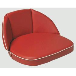 Schlepper- und Traktoren Sitzkissen, 30 cm Rücken, Riemen, rot