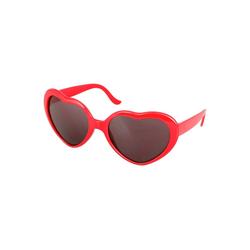 Gotui Sonnenbrille Liebesförmige Sonnenbrille Retro Brille Für Frauen Mann,Vatertagsgeschenk rot