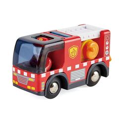 Hape Spielzeug-Eisenbahn Feuerwehrauto mit Sirene