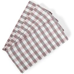 søstre & brødre Geschirrtuch 4er Set Geschirrtücher Küchentücher im hochwertigem Dobby-Design 50 x 70 cm, (4er Set Geschirrtuch Grubentuch, 100% Baumwolle - MADE IN EUROPE, Sehr saugfähig - Premium Qualität, 4-tlg) rosa