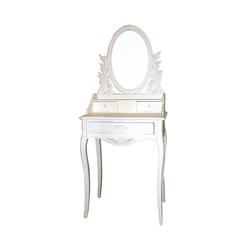 Spiegel Schminktisch in Weiß verziert Landhaus