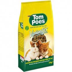 Tom Poes Variantjes kattenvoer   3 x 5 kg