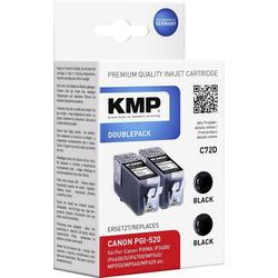 KMP KMP Tintenpatronen 2er-Pack C72D Schwarz 1508,0021 Tintenpatrone