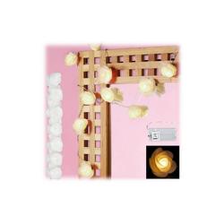 relaxdays Lichterkette 2x Rosen Lichterkette weiß